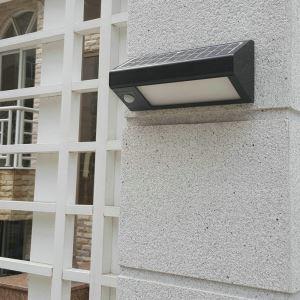 LEDソーラーライト 感知センサー玄関ライト 屋外ライト 門柱灯 LEH44258B
