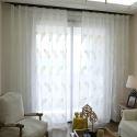レースカーテン オーダーカーテン シアーカーテン 刺繍 羽柄(1枚)