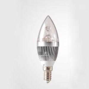 LEDシャンデリア電球 電球色・昼光色 270LM 3W E12 AC85-265V 銀色