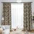 遮光カーテン オーダーカーテン 寝室 リビング 北欧 ジャカード バショウ葉 1級遮光カーテン(1枚)