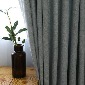 遮光カーテン オーダーカーテン 灰色 北欧 リビング用(1枚)