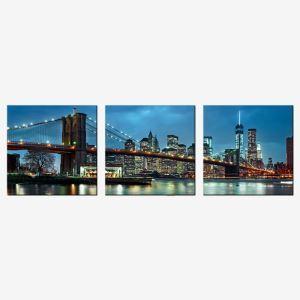 絵画 油彩画 アートパネル 装飾絵画 壁飾り 橋 プレゼント 3pcs 30*30cm