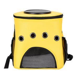 ペットバッグ ペットキャリー ペットケース 犬猫兼用 肩掛け 通気性抜群 旅行 お出かけ ポータブル 黄色