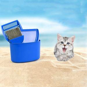 猫のトイレ用スコップ 猫砂スコップ 砂取り用品 猫砂シャベル 4点セット 猫砂スコップ 猫砂箕 猫砂ブラシ スコップ設置桶
