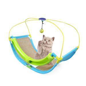 ペットおもちゃ ブランコ 猫玩具 ゆりかご 吊り橋 ハンモック 超軽量 運動不足 ストレス解消 水洗い