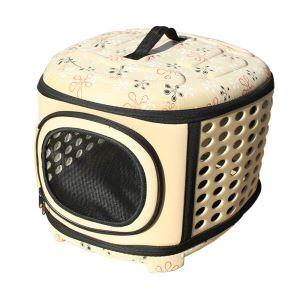ペットキャリー バッグ ケース 犬猫兼用 ポータブル 旅行 アウトドア お出かけ ハンドバッグ トラベルバッグ 通気 L グレー