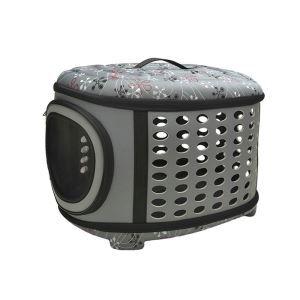 ペットキャリー バッグ ケース 犬猫兼用 ポータブル 旅行 アウトドア お出かけ ハンドバッグ トラベルバッグ 通気 L 灰色