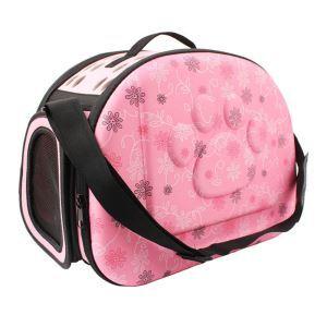 ペットバッグ ペットキャリー 犬猫兼用 肩掛け 手提げ 通気性抜群 旅行 お出かけ ポータブル ピンク M