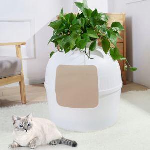 ペットハウス 猫用ケージ 猫の巣 小型犬可 四季兼用 ハーフカバー 半分のクローズド 可愛い 白色