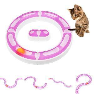猫のおもちゃ 猫じゃらし プレイサーキット ぐるぐる ボール 型変える可 運動不足 ストレス解消