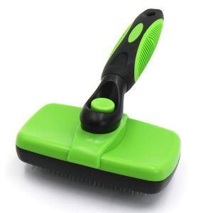 ペットヘアブラシ 掃除機 抜け毛取り 抜け毛除去 櫛 グルーミング 犬猫用 マッサージ グリーン