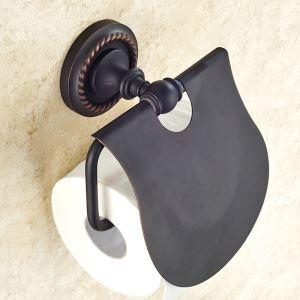 トイレットペーパーホルダー 紙巻器 バスアクセサリー ヴィンテージ 黒色