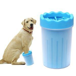 ペット用 犬の足を洗うカップ 犬の爪クリーナー 猫 犬 足洗い ブラシカップ 柔軟 清掃が簡単 携帯便利 L