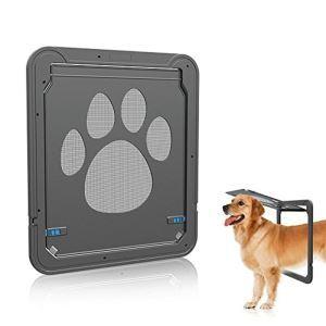 ペットドア 犬猫 出入り口 網戸専用 網戸ドア かみを防ぐ  取付簡単 冷暖房対策 ロック可能