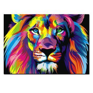 絵画 油彩画 アートパネル 装飾絵画 壁飾り ライオン プレゼント 1pcs 30*45cm
