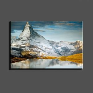 絵画 油彩画 アートパネル 装飾絵画 壁飾り 雪山 プレゼント 1pcs 30*45cm