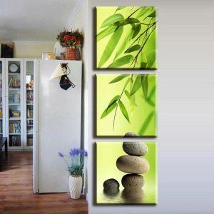 絵画 油彩画 アートパネル 装飾絵画 壁飾り 竹葉柄 プレゼント 3pcs 30*30cm