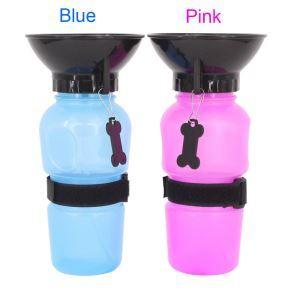 ペット給水器 ペット用水筒 水飲みボトル カップ付き 水やり 犬猫用 旅行 お出かけ