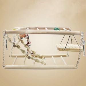 鳥おもちゃ 登りはしご お立ち台 止まり木 ブランコ 鳥 インコ 小動物用