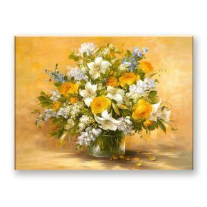 絵画 油彩画 アートパネル 装飾絵画 壁飾り 花瓶 プレゼント 1pcs 30*30cm