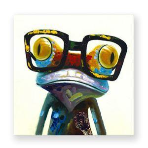 絵画 油彩画 アートパネル 装飾絵画 壁飾り カエル プレゼント 1pcs 30*30cm