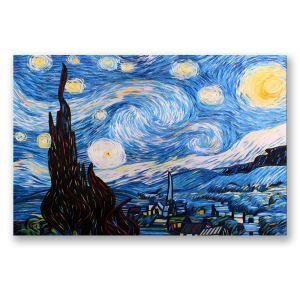 絵画 油彩画 アートパネル 装飾絵画 壁飾り 星空柄 プレゼント 1pcs 30*45cm