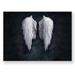 絵画 油彩画 アートパネル 装飾絵画 壁飾り 翼柄 プレゼント 1pcs 30*45cm