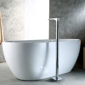 床置きシャワー水栓 床立ち上げ式浴槽蛇口 冷熱混合栓 水栓金具 クロム 18D025