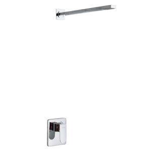 埋込形シャワー水栓 ヘッドシャワー バス水栓 混合栓 水道蛇口 クロム