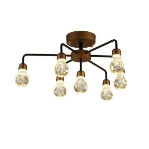 LEDシーリングライト 照明器具 ダウンライト リビング照明 寝室照明 放射状 LED対応 7灯 QM6007