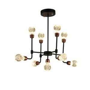 LEDシャンデリア 照明器具 リビング照明 寝室照明 放射状 レトロ LED対応 9灯 QM6109