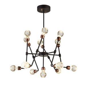 LEDシャンデリア 照明器具 リビング照明 寝室照明 放射状 レトロ LED対応 13灯 QM6113