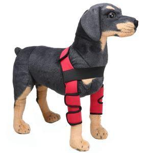 ペット用リハビリ 関節プロテクター マジックテープ 犬用膝サポーター 犬骨折治療 小型犬 中型犬 大型犬 老犬介護 保健 ケア用品 レッド 赤色