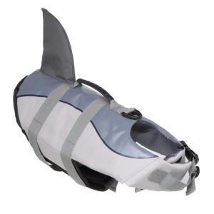 犬用救命胴衣 ライフジャケット 反射 犬救急服 水泳の練習/水遊び 安全安心 犬水泳必需品 グレー
