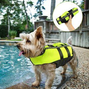 犬用救命胴衣 ライフジャケット 折畳み 犬救急服 水泳の練習/水遊び 安全安心 犬水泳必需品