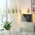 シアーカーテン オーダーカーテン UVカット 刺繍 花柄 欧米風 レースカーテン(1枚)