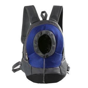 ペットキャリーバッグ 犬 猫用 ペットバッグ ペット用抱っこひも おんぶ 外出用 ブルー