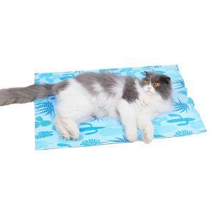 ペットクールマット ひんやりマット 犬猫兼用 熱中症暑さ対策 サボテン柄 M