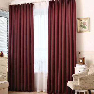 遮光カーテン 寝室カーテン リビングカーテン 無地柄 純色 5色 現代風 1級遮光カーテン(1枚)