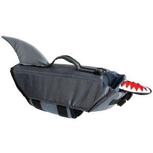 犬用救命胴衣 ライフジャケット ペット用フローティングベスト 水泳の練習/水遊び 安全安心 犬水泳必需品 グレー