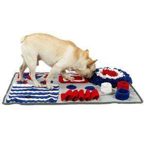 ペットトレーニングマット 餌マット ノーズワーク 嗅覚活用 遊び場所 訓練毛布 集中力向上 性格改善 運動不足/ストレス解消 分離不安/食いちぎる対策 ペットおもちゃ グレー