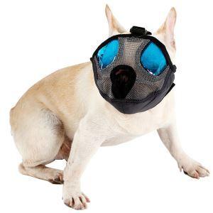 犬のマズル 犬用マスク 眼帯付き 防止口輪 拾い食い 無駄吠え 噛み 防止 犬外出便利グッズ グレー M