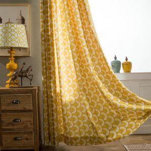 遮光カーテン オーダーカーテン 捺染 黄色 オシャレ(1枚)