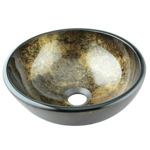 洗面ボール 手洗い鉢 洗面器 手洗器 洗面ボウル 洗面台 ガラス 排水金具付 オシャレ D31cm VT3113