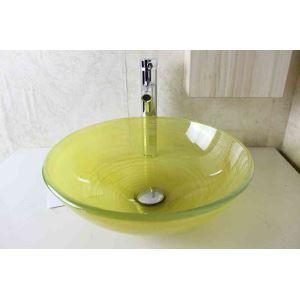 洗面ボウル 手洗器 洗面器 手洗い鉢 洗面ボール ガラス 排水金具付 オシャレ SN788