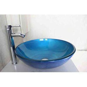 洗面ボウル 手洗器 洗面器 手洗い鉢 洗面ボール ガラス 排水金具付 オシャレ SN792