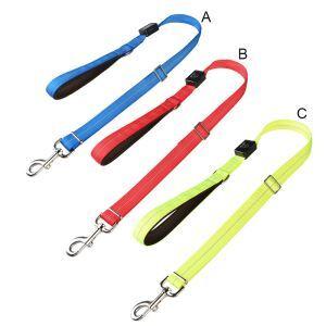 ペットリード LED牽引ロープ 発光ハーネス LED発光 充電式 犬 発光帯 ナイロン 調節可能夜間の安全 お散歩