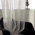 シアーカーテン オーダーカーテン UVカット ジャカード 幾何柄 欧米風 レースカーテン(1枚)