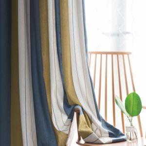 遮光カーテン 寝室カーテン ジャカード 対照縦縞柄 現代風 省エネ エコカーテン(1枚)