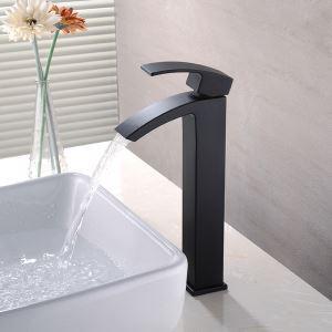洗面水栓 バス蛇口 冷熱混合栓 立水栓 手洗器蛇口 水栓金具 水道蛇口 黒色 H31m
